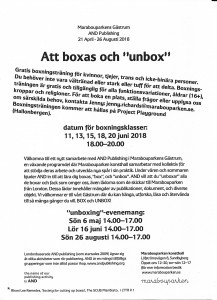 web boxing poster swedish